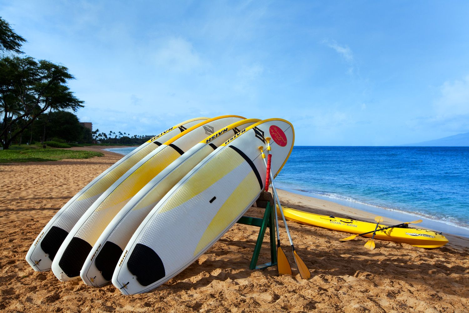 The Westin Ka'anapali Ocean Resort Villas - Surf Boards on Beach